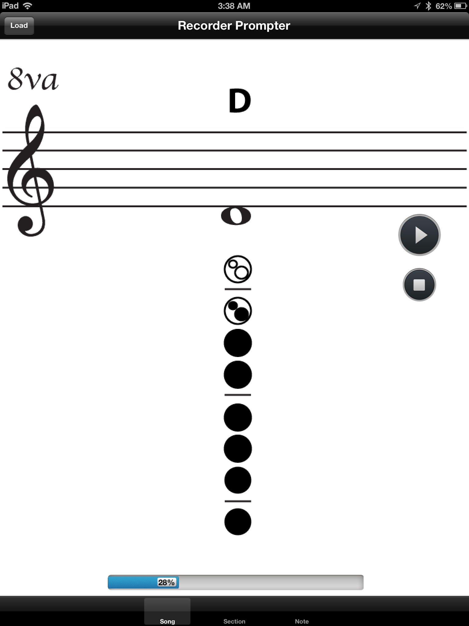 Recorder prompter view sequences of notes from the song while its playing or paused scroll through sections of the song at your own speed ccuart Gallery